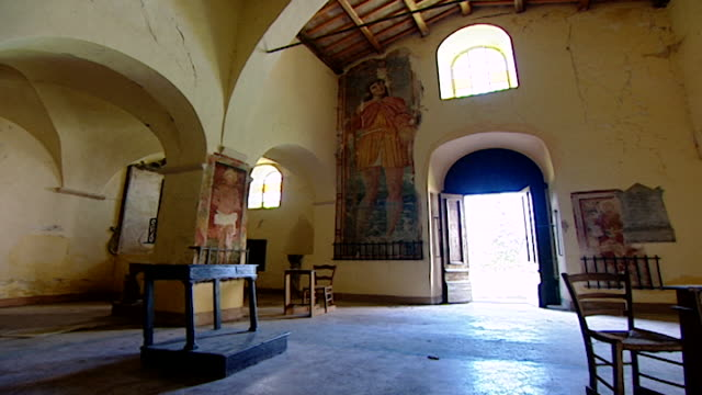 view of the interior of the church of saint maron in volperino. during the crusades the relics of saint maron, founder of the maronite order, were... - the crusades stock videos & royalty-free footage