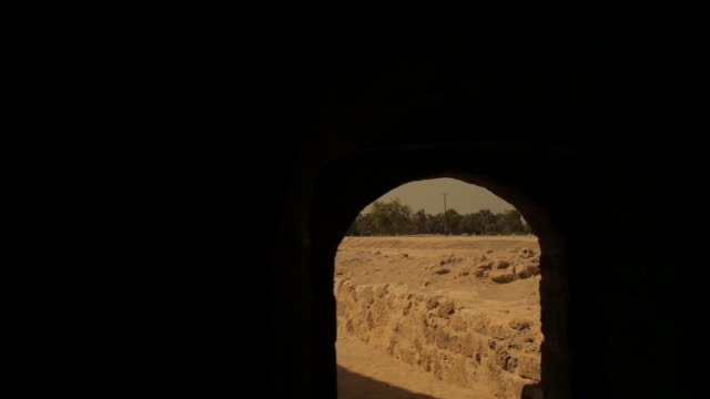 view of the islamic architecture of the 15th century arad fort - circa 15th century stock videos & royalty-free footage