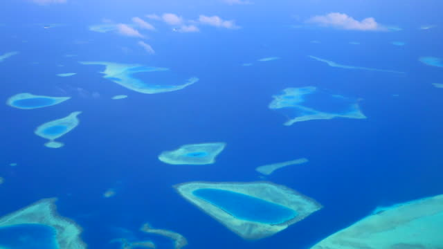 View of the islands and sea in the South Pacific, Oceania