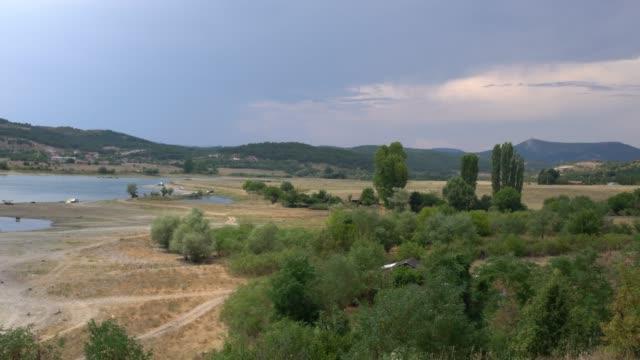 view of the kardzhali (kardzali) reservoir in eastern rhodopes, bulgaria - 1957 stock videos & royalty-free footage