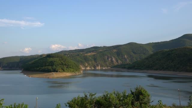 view of the kardzhali (kardzali) reservoir in eastern rhodopes, bulgaria view of the kardzhali (kardzali) reservoir in eastern rhodopes, bulgaria - 1957 stock videos & royalty-free footage