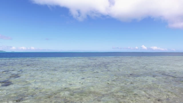 view of the lagoon with sky - isola di tahaa video stock e b–roll