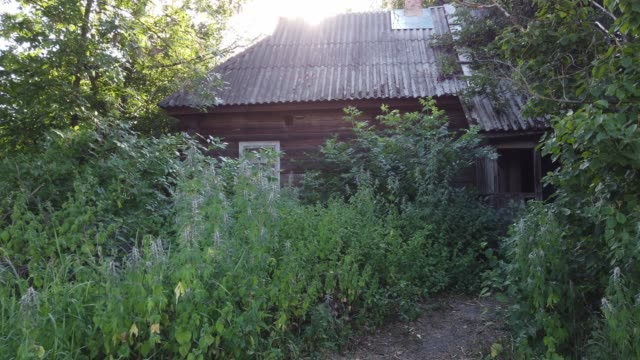 stockvideo's en b-roll-footage met view of the lonely dosimetry specialist historical museum house in chernobyl on june 18, 2019. the chernobyl disaster was a catastrophic nuclear... - kernramp van tsjernobyl