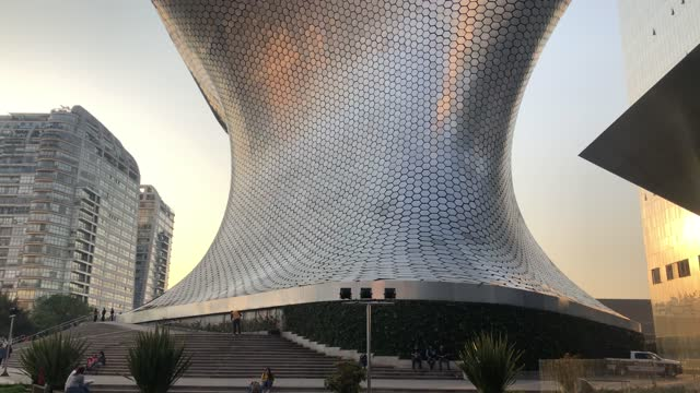 """view of the """"museo soumaya"""" belonging to the mexican tycoon carlos slim in the """"nuevo polanco"""" district on december 29, 2020 in mexico city, mexico.... - arts culture and entertainment video stock e b–roll"""