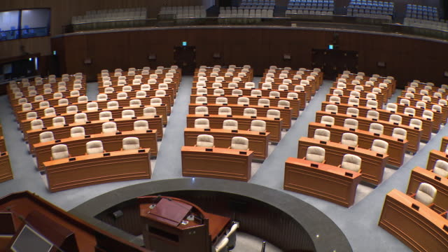 view of the national assembly plenary chamber in seoul, south korea - 連邦議会点の映像素材/bロール
