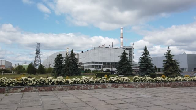 A view of the New Safe Confinement in Chernobyl on June 18 2019 The Chernobyl disaster was a catastrophic nuclear accident that occurred on 26 April...