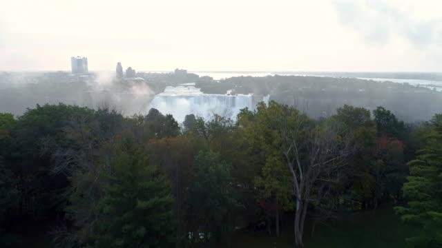 View of the Niagara Falls(Bridal Veil Falls) over Ontario in NewYork, USA