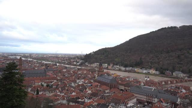 ハイデルベルク旧市街の眺め - ハイデルベルク点の映像素材/bロール