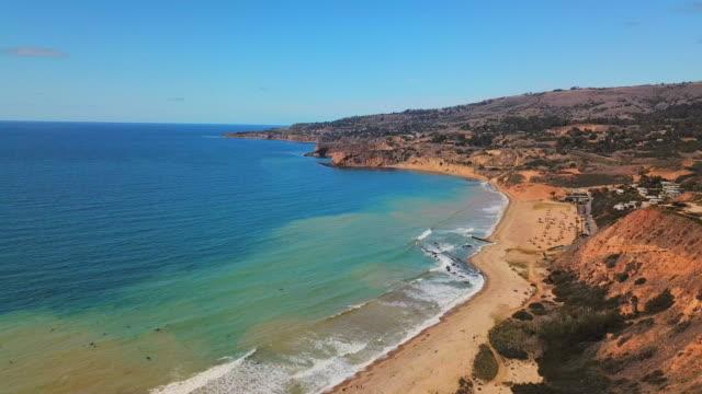 vídeos y material grabado en eventos de stock de view of the palos verdes coastline and peninsula - toma panorámica