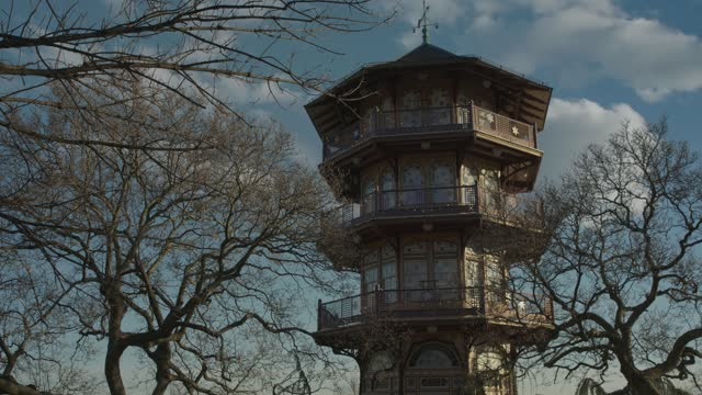 view of the patterson park pagoda on january 22, 2021 in baltimore, maryland. there have been 336,915 confirmed cases of covid-19 in maryland. - pagoda stock videos & royalty-free footage
