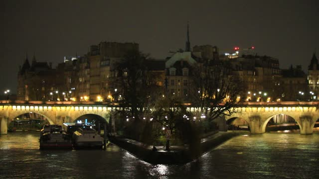 """view of the """"pont neuf"""" by night on january 7, 2021 in paris, france. unlike the united kingdom or germany, the french government seems to have ruled... - atmospheric mood stock videos & royalty-free footage"""
