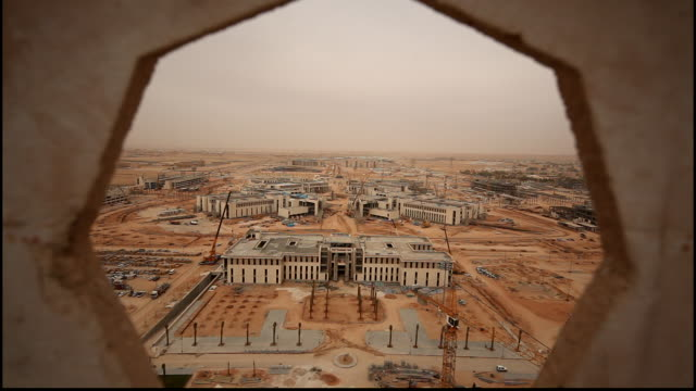 view of the princess nora university new campus construction site it was the first college for women in the kingdom the campus was inaugurated by... - saudi arabia stock videos & royalty-free footage