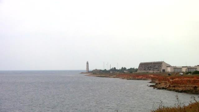 "view of the radar ""dnepr"" / sevastopol, crimea - sevastopol crimea stock videos and b-roll footage"