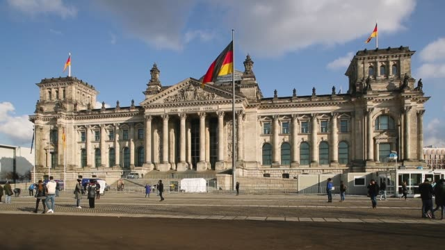 View of the Reichstag building in Berlin Germany