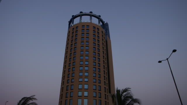 view of the rosewood hotel in jeddah. - jiddah stock videos & royalty-free footage