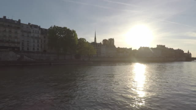 view of the seine in paris - saint louis bildbanksvideor och videomaterial från bakom kulisserna