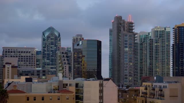 WS ZO T/L View of the skyline of downtown San Diego / San Diego, California, USA