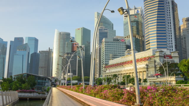 view of the skyline of singapore downtown cbd - marina stock videos & royalty-free footage