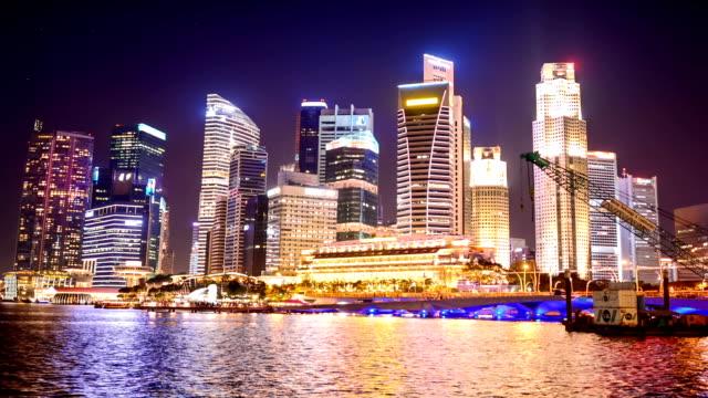 Uitzicht op de skyline van Singapore centrum CBD
