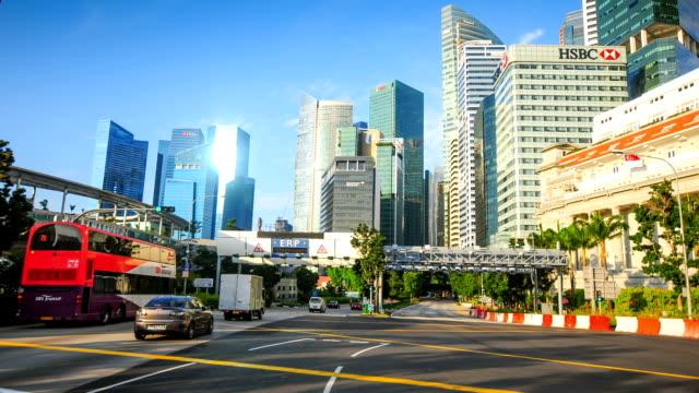 vídeos y material grabado en eventos de stock de vista del skyline de la ciudad de singapur cdb - singapur