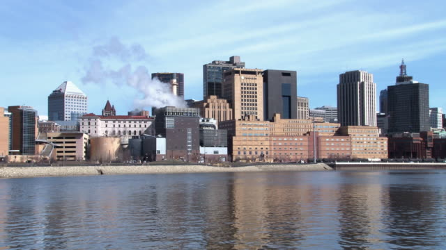 A view of the St. Paul skyline from across the Mississippi River