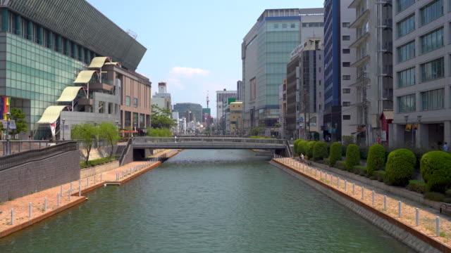 view of the streets of fukuoka - fukuoka prefecture stock videos & royalty-free footage