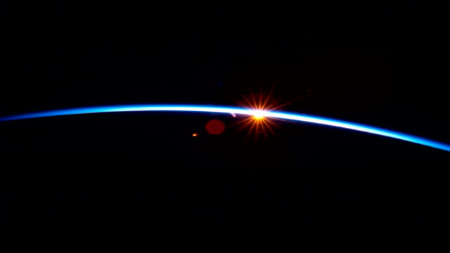 / view of the sun setting over China as seen from the International Space Station Sun setting over China on April 13 2012 in In Space