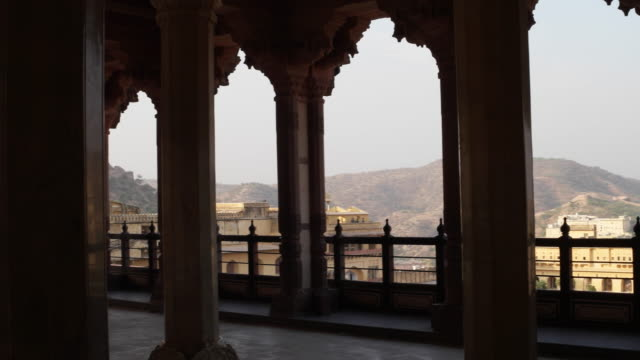 A view of the surroundings and the interiors of the beautifully constructed medieval fort of Amber in Rajasthan