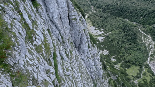 aerial view of the valley from a high range mountain top - summit stock videos & royalty-free footage