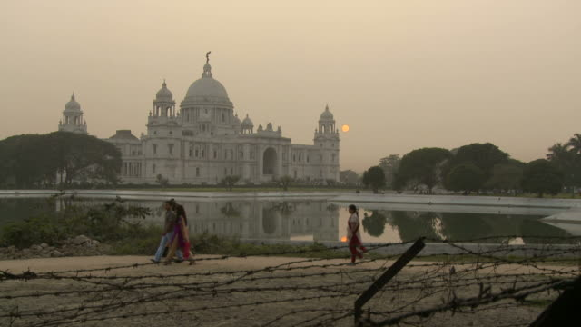 View of the Victoria Memorial in Kolkata India