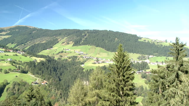 view of the village grinzens - traditionally austrian stock videos & royalty-free footage