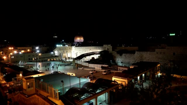 View of the Wailing Wall and Temple Mount with the Dome of the Rock in the background