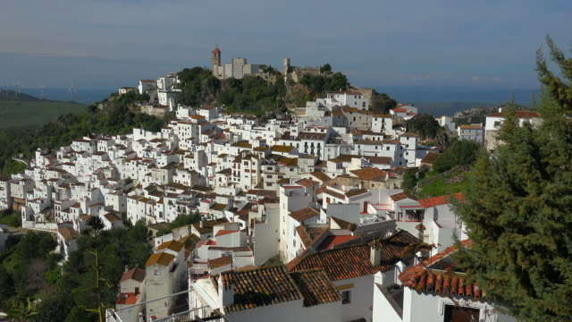 View of the White Village of Casares in Sierra Bermeja, Malaga, Andalusia