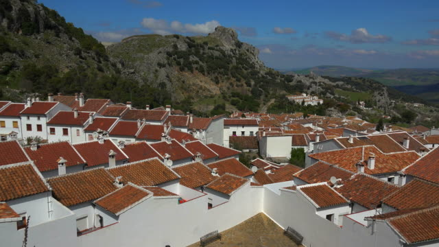 View of the White Village of Grazalema, Andalusia