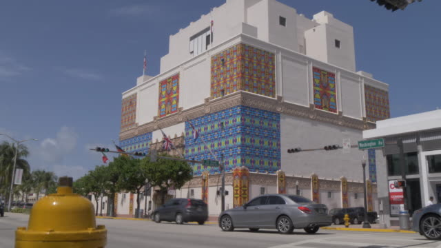 View of The Wolfsonian Museum on Washington Avenue, South Beach, Miami, Florida, United States of America, North America