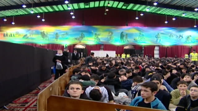 view of the young men's section in an ashura majlis ashura is held every year on the 10th day of muharram commemorating the death of hussain ibn ali - ashura muharram stock videos & royalty-free footage