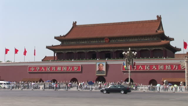 View of Tiananmen Square Gate in Beijing China