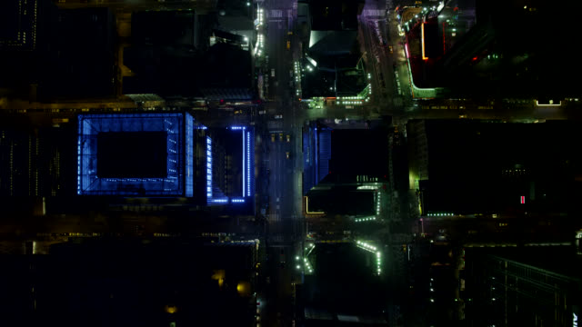 """""""ws aerial ha view of time square straight in city / new york city, united states"""" - straight stock videos and b-roll footage"""