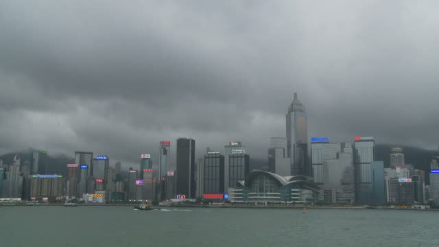 view of times tower hong kong, china - times square causeway bay stock videos & royalty-free footage