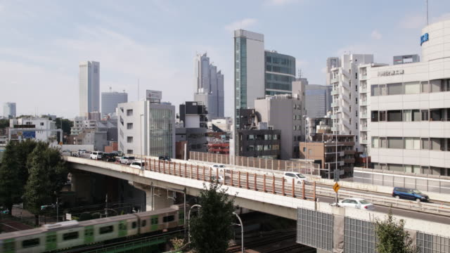 view of tokyo skyline during day / tokyo, japan - bronek kaminski stock videos & royalty-free footage