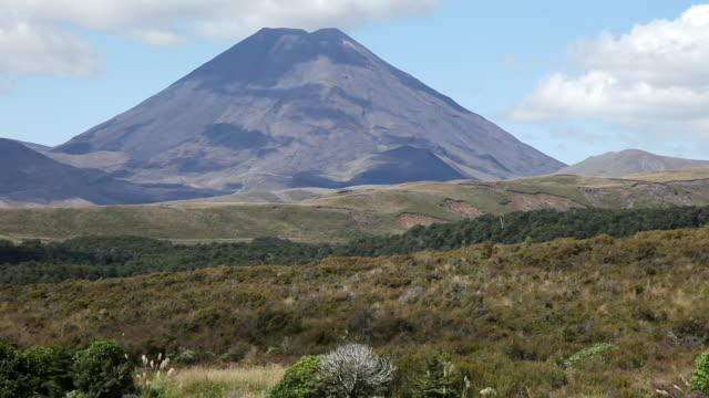 ws view of tongariro national park / tongariro, new zealand - tongariro national park stock videos & royalty-free footage