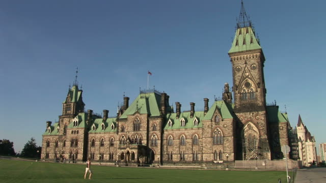 View of tourists in Parliament Hill Ottawa Canada
