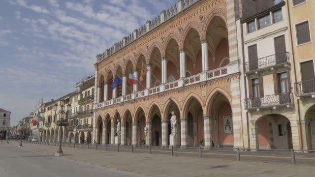 view of town hall & culture centre in prato della valle, padua, veneto, italy, europe - prato stock videos and b-roll footage