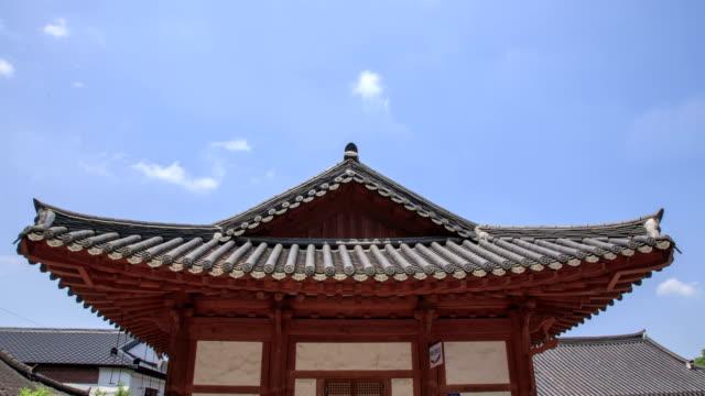 View of traditional Korean-style house in Jeonju Hanok Village