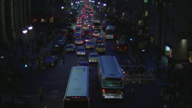 ws tu view of traffic in fifth avenue  / new york city, new york, usa - 1981 stock videos & royalty-free footage