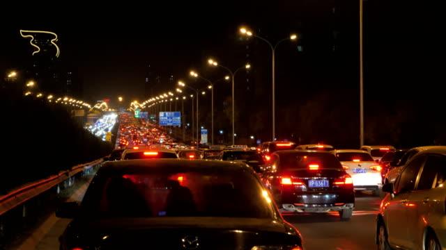 vidéos et rushes de a view of traffic jam on nov 08 2017 in beijing china - trafic jam