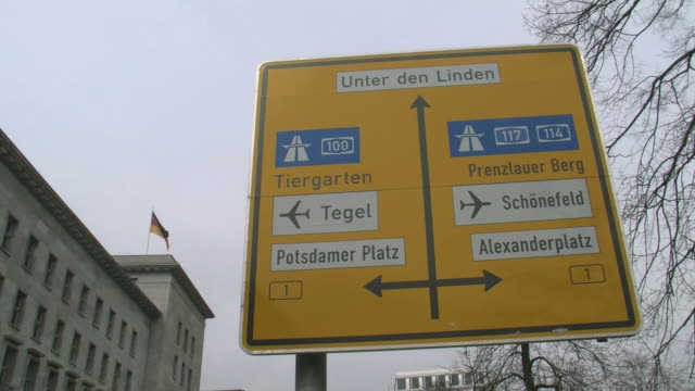 CU View of traffic sign at Wilhelmstrasse / Berlin, Germany