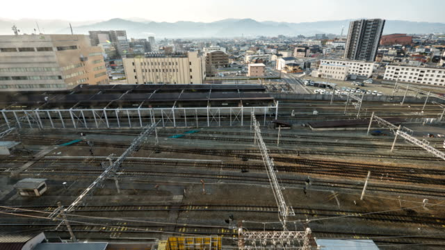 view of train station at nagano, japan - nagano prefecture stock videos and b-roll footage