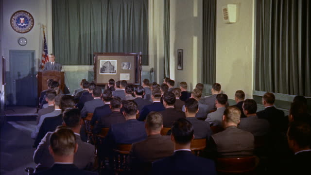 MS View of trainees in a lecture hall / Washington D.C., United States