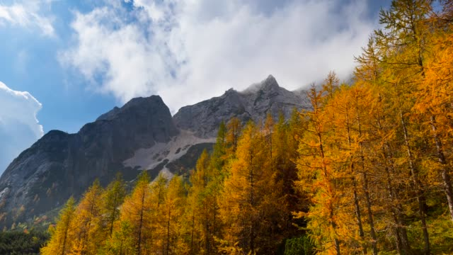 view of triglav national park in autumn - triglav national park stock videos and b-roll footage